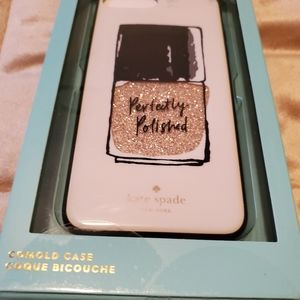 NWT Kate Spade New York Glitter Clear Gold Case IP
